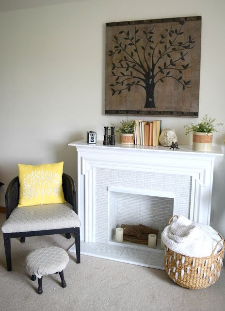 30 day flip, secondhand fireplace redo