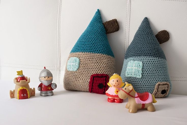 Patrón de casa a crochet - House crochet pattern