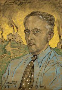 """Witkacy (Stanisław Ignacy Witkiewicz) """"Autoportret"""" (1938), Muzeum Śląskie w Katowicach"""