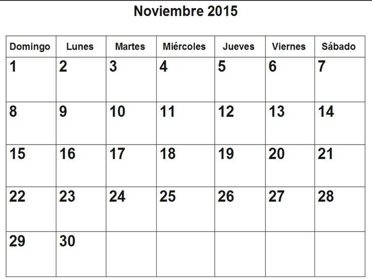 calendario noviembre 2015 para imprimir - Buscar con Google
