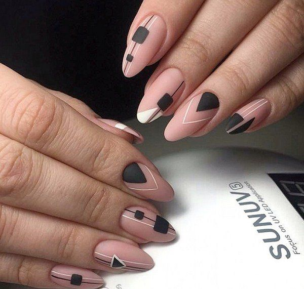 33 Fashion Geometric Nail Art Ideas 2019