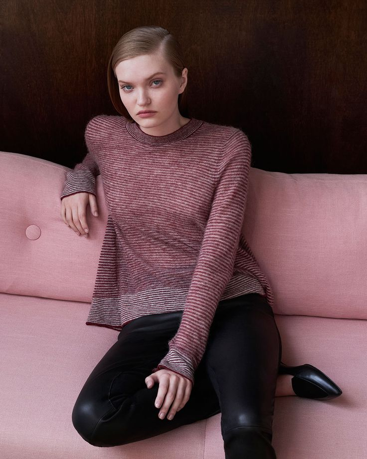 Made in an Italian alpaca blend this knit is lightweight yet beautifully warm to wear.