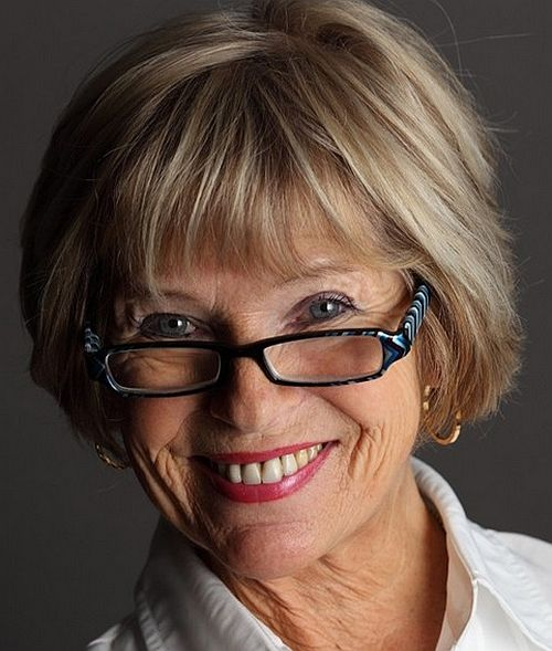 short hairstyles over 50, hairstyles over 60 - bob hairstyle with fringe