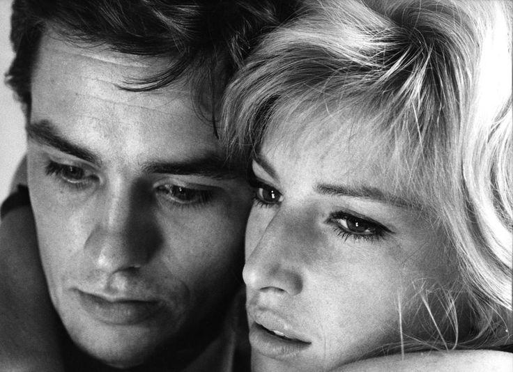"""Monica Vitti and Alain Delon in """"L'eclisse"""","""