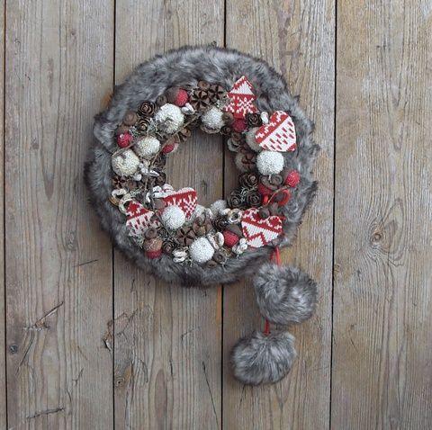 Észak őrzője - szőrmés téli ajtódísz, Dekoráció, Otthon, lakberendezés, Karácsonyi, adventi apróságok, Ünnepi dekoráció, Meska