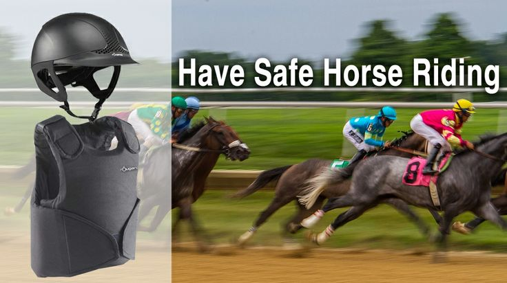 Safety helmet and  and body protectors specially designed for protecting the rider's upper body in the event of a fall.