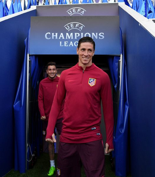 Fernando Torres Photos Photos - Fernando Torres of Atletico Madrid pictured during a training session at The King Power Stadium on April 17, 2017 in Leicester, England. - Club Atletico de Madrid Training