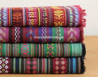 Tribal Fabric Ethnic Fabric Aztec Fabric by ChaChaFabricMade