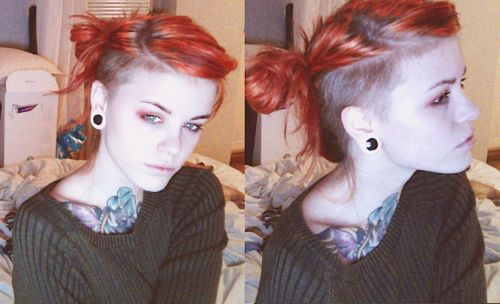 Girl shaved hair inspiration