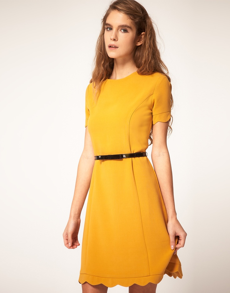 M s yellow skater dress 911