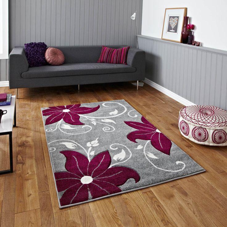 Verona Grey Purple Rugs Online From Direct
