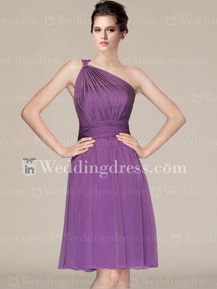 Short Chiffon One-Shoulder Maids Dresses  http://www.inweddingdress.com/style-br201.html
