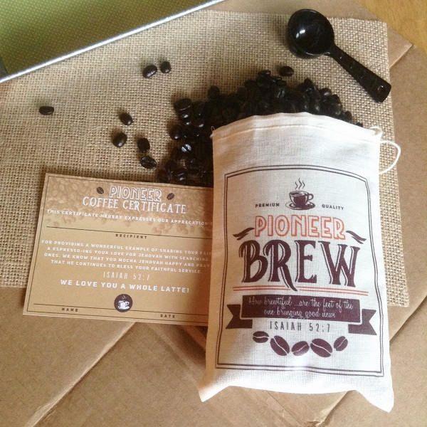 JW Coffee Gift Bags  Pioneer Gift Bags  Auxiliary Pioneer