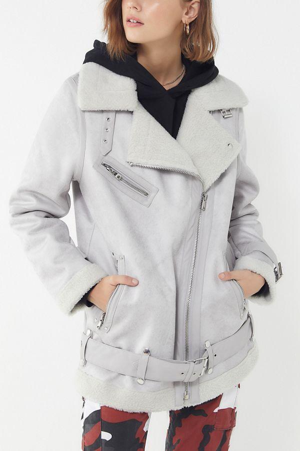 7b8da1d7d UO Oversized Faux Leather Aviator Jacket   Dressing like a grown up ...