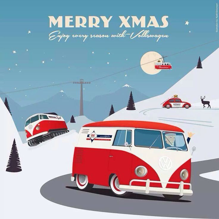 merry christmas vw pinners vw pinterest volkswagen bus bus camper and bus art. Black Bedroom Furniture Sets. Home Design Ideas