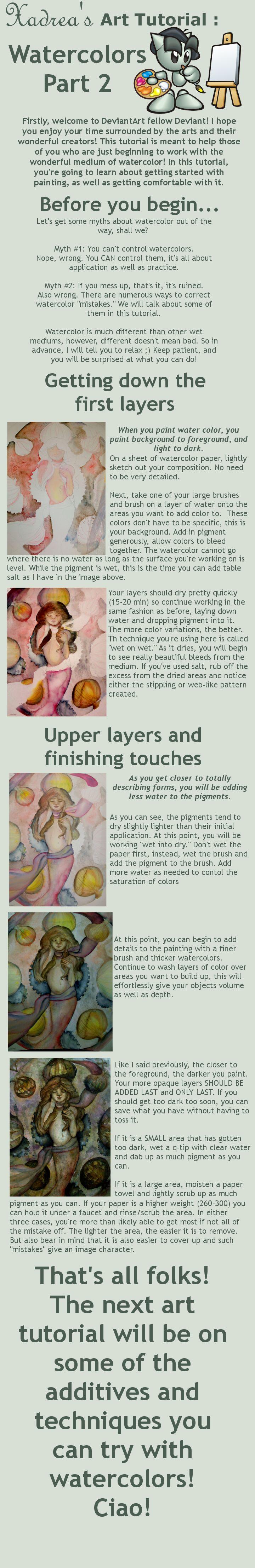 Art Tutorial: Watercolors Prt2 by =Xadrea on deviantART
