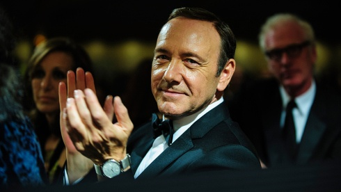 "Netflix compelling series ""House of cards"" stars Kevin Spacey as Frank Underwood."