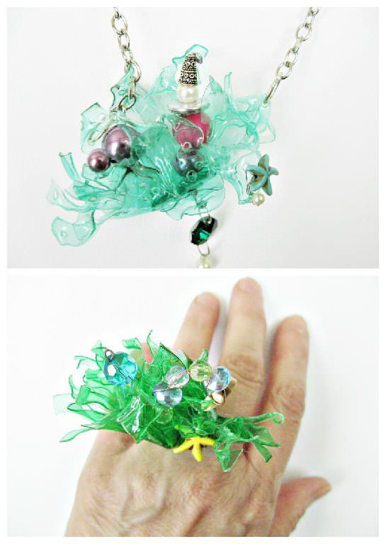 17 best images about recycled jewelry diy ideas on for Jewelry made from plastic bottles
