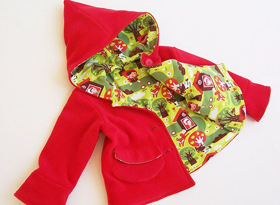 LITTLE RED Riding Hood Girl Jacket sewing pattern Pdf by PUPERITA, PDF instant download $7, via Etsy
