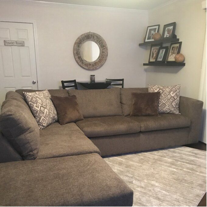 Isaacs 112 Left Hand Facing Sectional Sectional Contemporary Sectional Three Seat Sofa