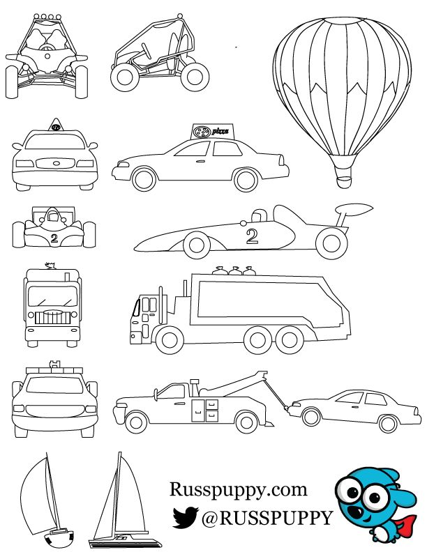 Free Cars Coloring Pages For Young Kids And Toddlers