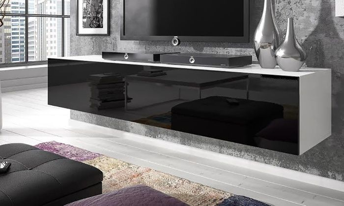 Groupon Goods Global GmbH: Rocco Floating TV Units in Choice of Size and Colour from £69.98 With Free Delivery