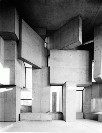 Fritz Wotruba . a church, Vienna, 1976