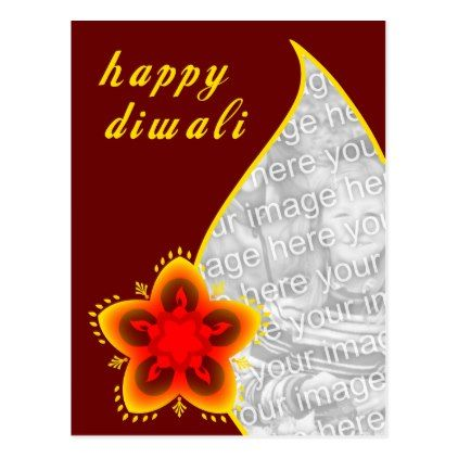 happy diwali photo card : light window - postcard post card postcards unique diy cyo customize personalize
