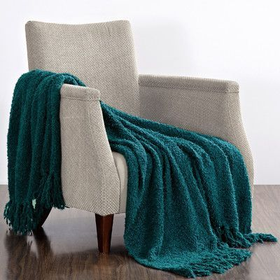 BOON Throw U0026 Blanket Fluffy Throw Blanket Color: Dark Teal