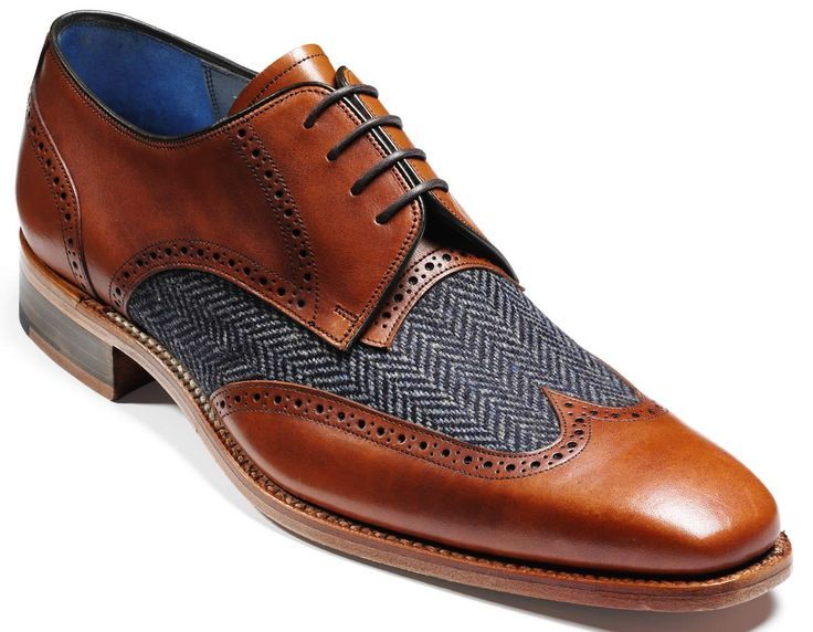 Perfect with a pair of dark denim jeans! Barker - Jackson in Tweed and Cedar. - mens cheap dress shoes, mens shoes online buy, cheap mens brown dress shoes