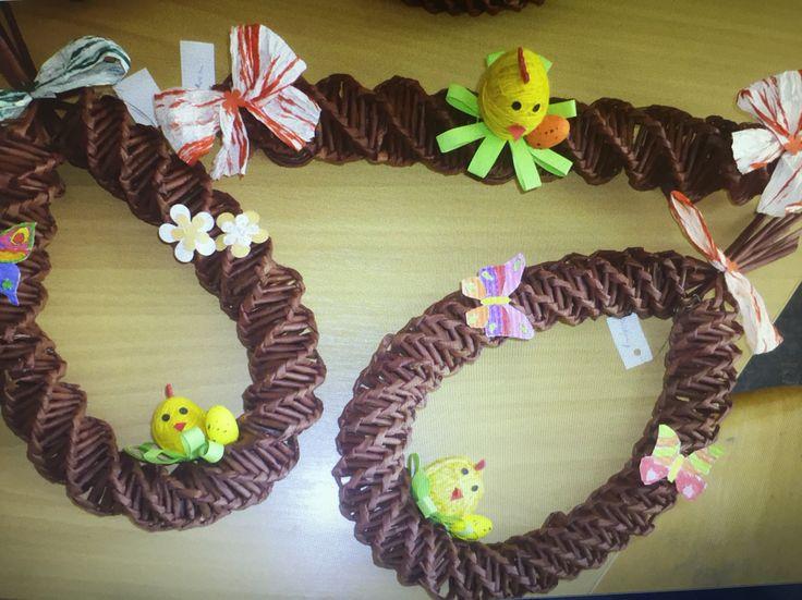 Papírové pletení-Velikonoce