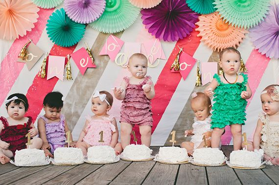 Baby girl cake smash party   The Leo Loves Photography   100 Layer Cakelet