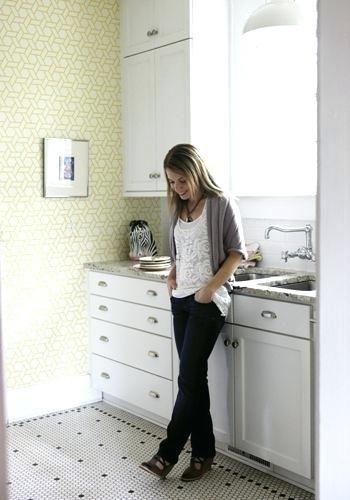 white penny tile floor white penny tile kitchen floor google search ...