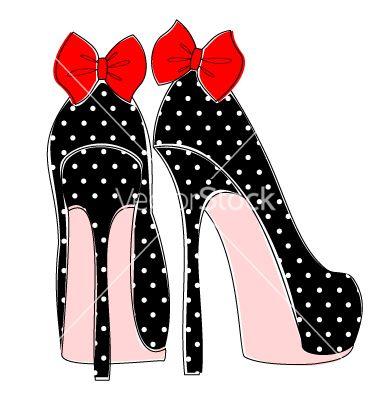 Elegant high heels vector