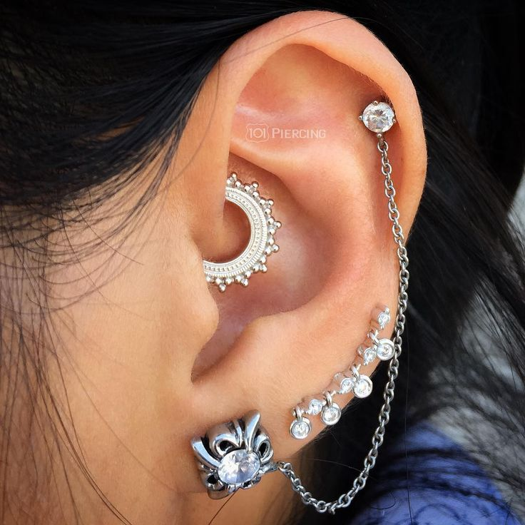 white gold afghan daith ring BVLA