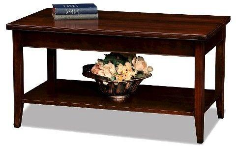 Leick Furniture Laurent Condo/Apartment Coffee Table Chocolate Cherry Finish