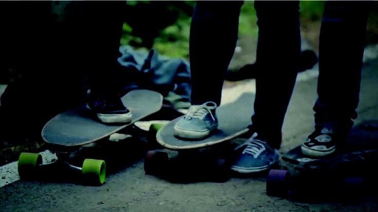 : Riding Skateboard