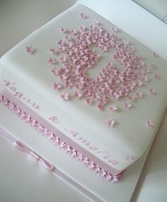 Christening cake love it but change the ribbon to seafoam color
