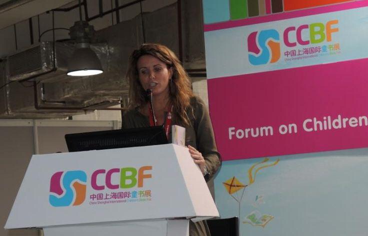Mercè Segarra at the Shanghai International Children's Book Fair Forum