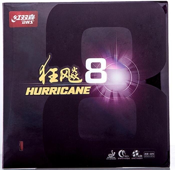 BARU Kedatangan Asli DHS Hurricane 8 Untuk Baru Bola Norak Tinggi-Kecepatan Tenis Meja Karet/Ping Pong Karet