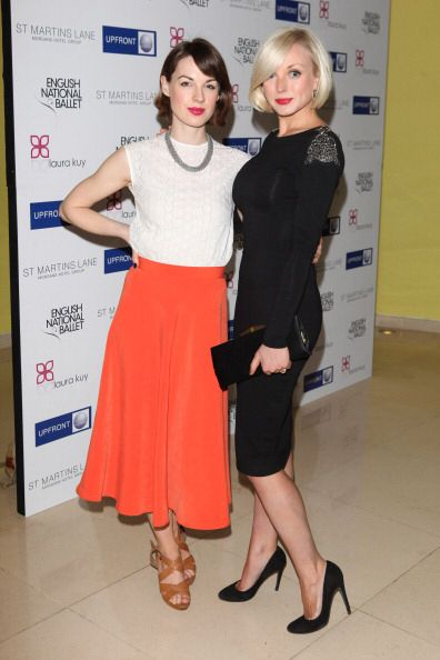Jessica Raine and Helen George at The English Ballet - Beyond Ballet Russes Pre-Performance Party April 2012