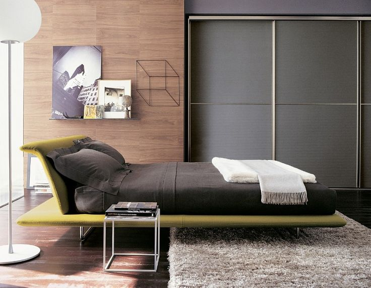 The beautiful yellow Siena Bed in a gorgeous contemporary setting.