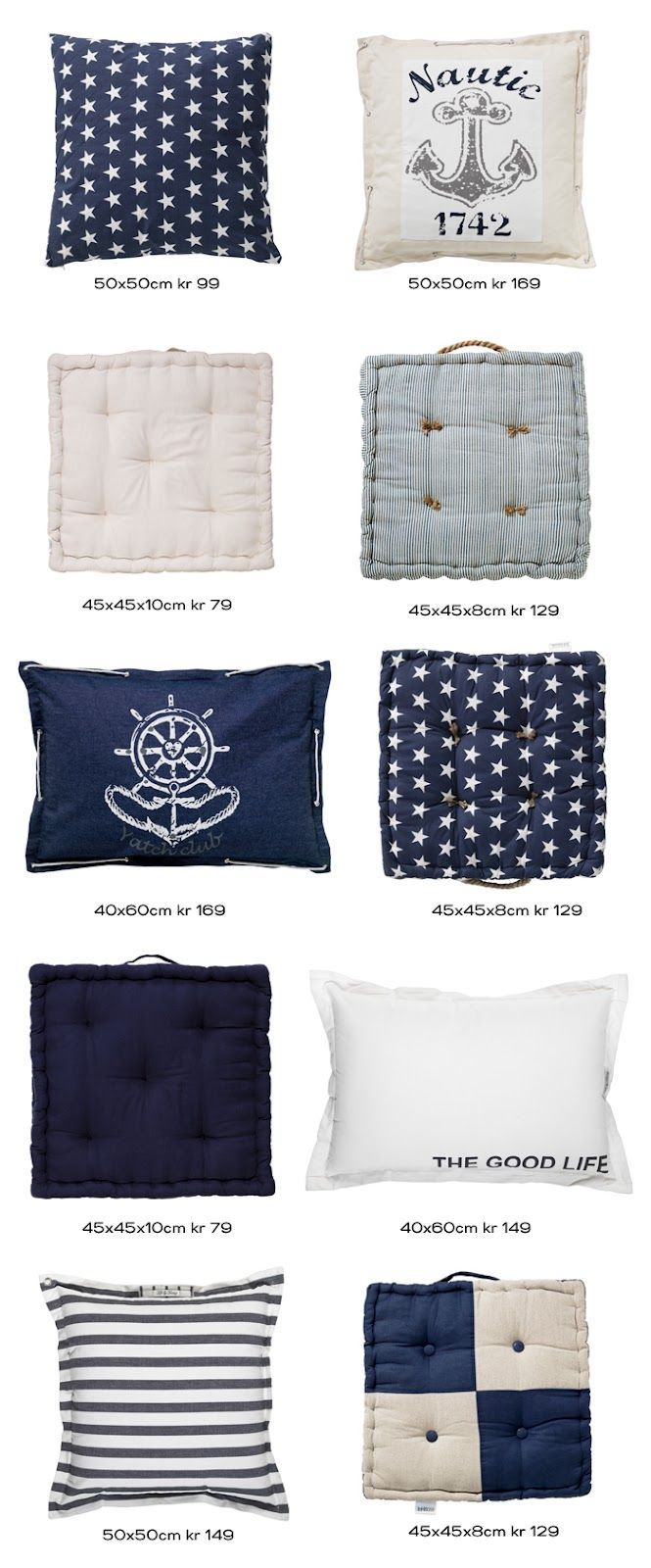 Maritime style - cushions