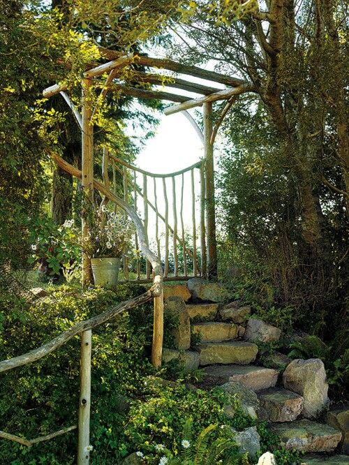 Rustic garden gate ideas photograph stairs stones step s for Rustic garden gate designs