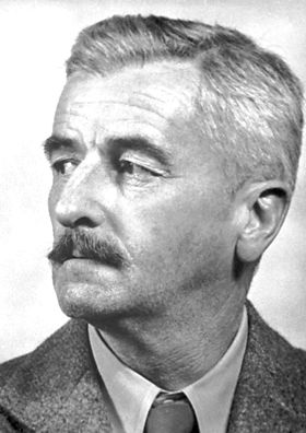 """William Faulkner, The Nobel Prize in Literature 1949: """"for his powerful and artistically unique contribution to the modern American novel"""", prose"""