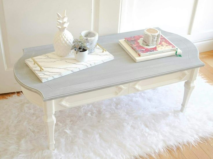 Painted two toned coffee table by Emily Michelle Interiors