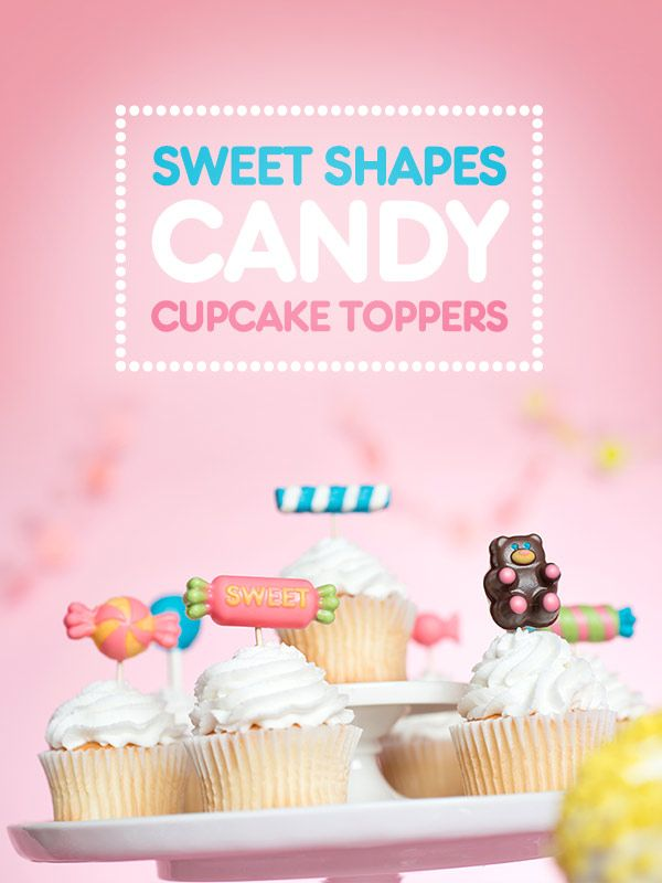 Sweet Shapes Candy Cupcake Toppers