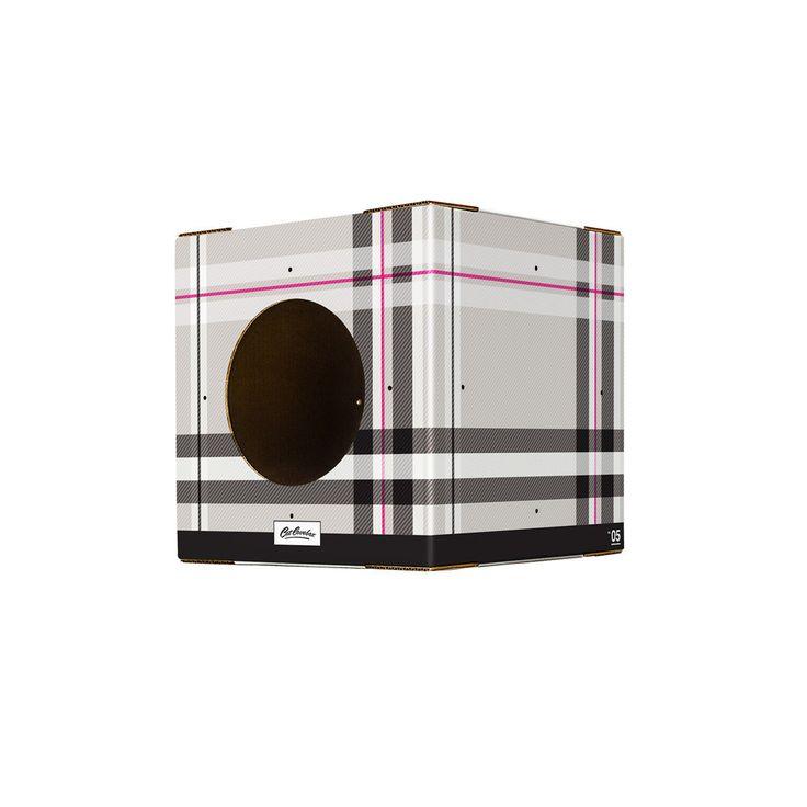 Single Plaid Print Cat Box