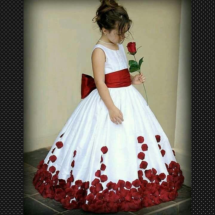 Vestido pajecita rojo | BODA | Pinterest | Flor, Chicas y