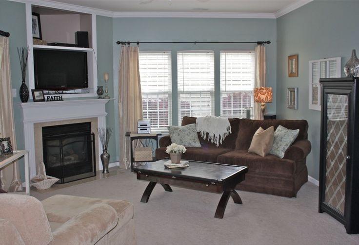 Living Rooms Restoration Hardware Sea Green Brown Blue